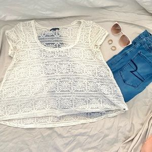 American Eagle Lace Tee Shirt